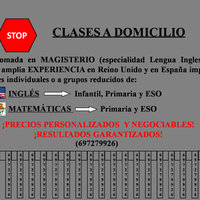 Clases a domicilio + Spanish and Galician language